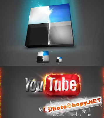 YouTube Icons and Delicious Icon