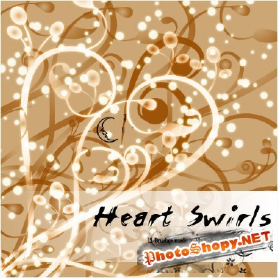 Heart Swirls Brushes Set