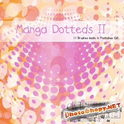 Dotted Manga II Brushes Set