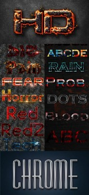Magma Text Effect Styles for Photoshop