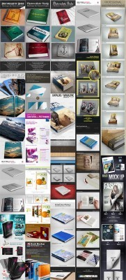 3D Book Covers Mockup Bundle