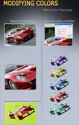 Changing color of a car psd