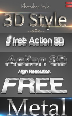 Metal Text Style pack