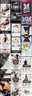10 White Sensation Flyer Bundle 2