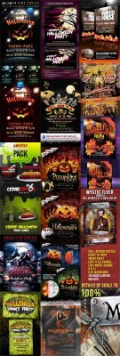 Halloween Party Flyers Bundle