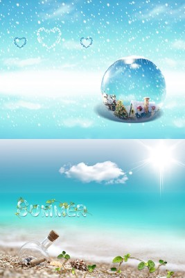 Sources - Beautiful winter and hot summer