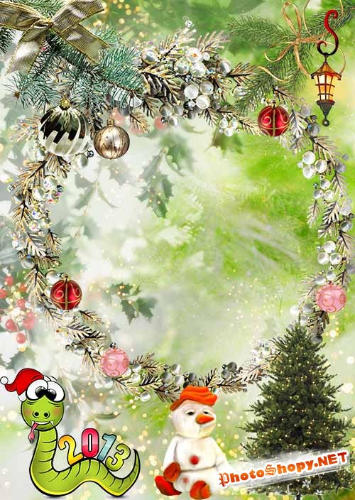 Рамка Волшебный новогодний мир