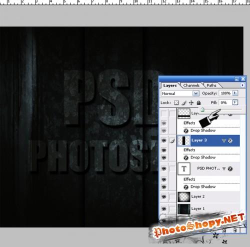 Делаем Grunge эффект для текста в Photoshop