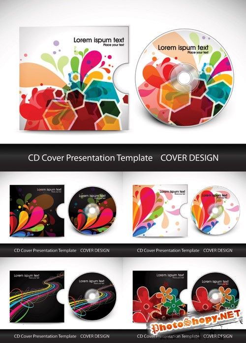 CD Cover Presentation Design - Stock Vectors