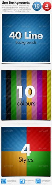 GraphicRiver Line Backgrounds x 40 Horizontal & Diagonal