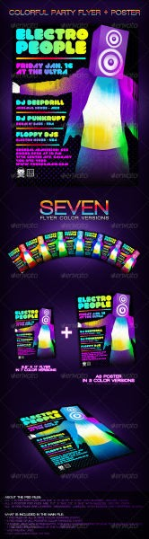Colorful Party Flyer + Poster - GraphicRiver