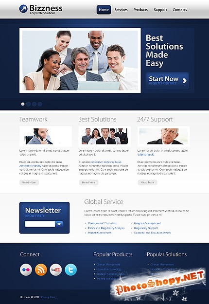 Bizzness Business Free Website Template