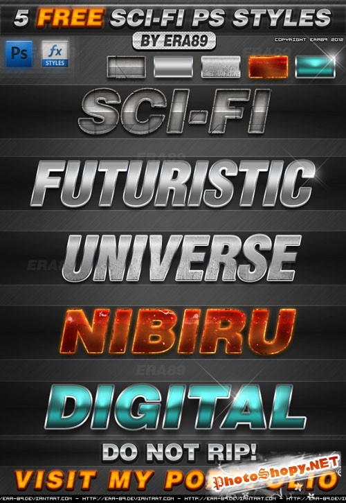5 Sci-Fi Text Effects Styles for Photoshop