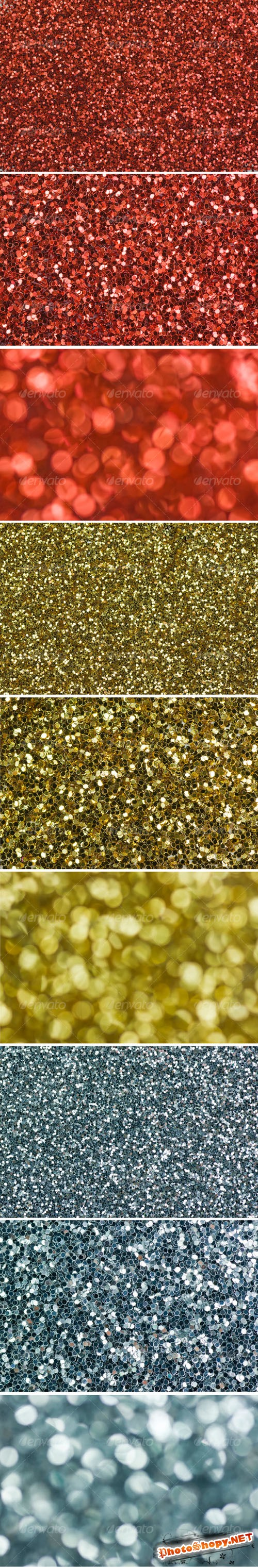 GraphicRiver - Red, Gold, Silver Glitter Background 70780