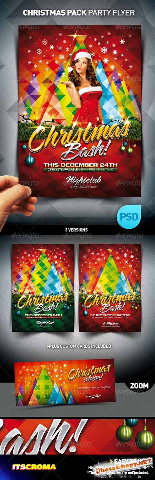 GraphicRiver - Christmas Bash Party Flyer Pack 769397