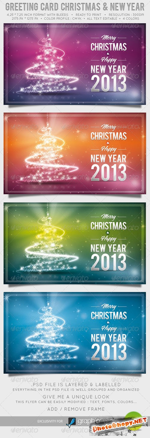GraphicRiver - Greeting Card Christmas and New Year 1028757