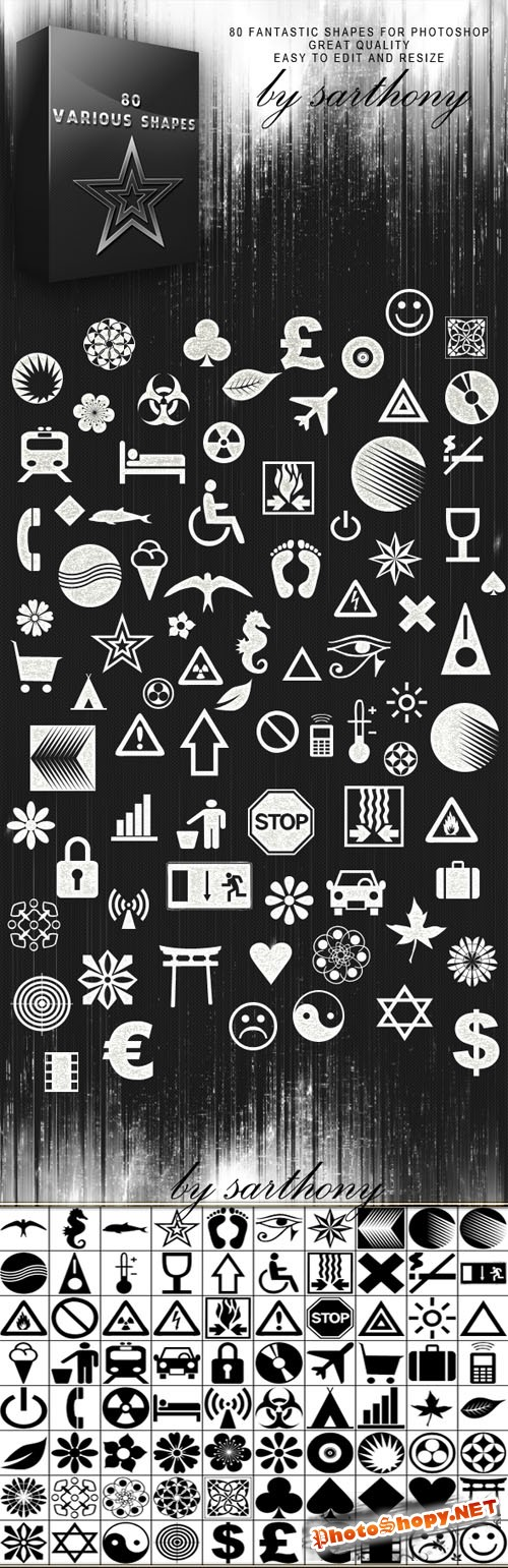 Various Photoshop Shapes