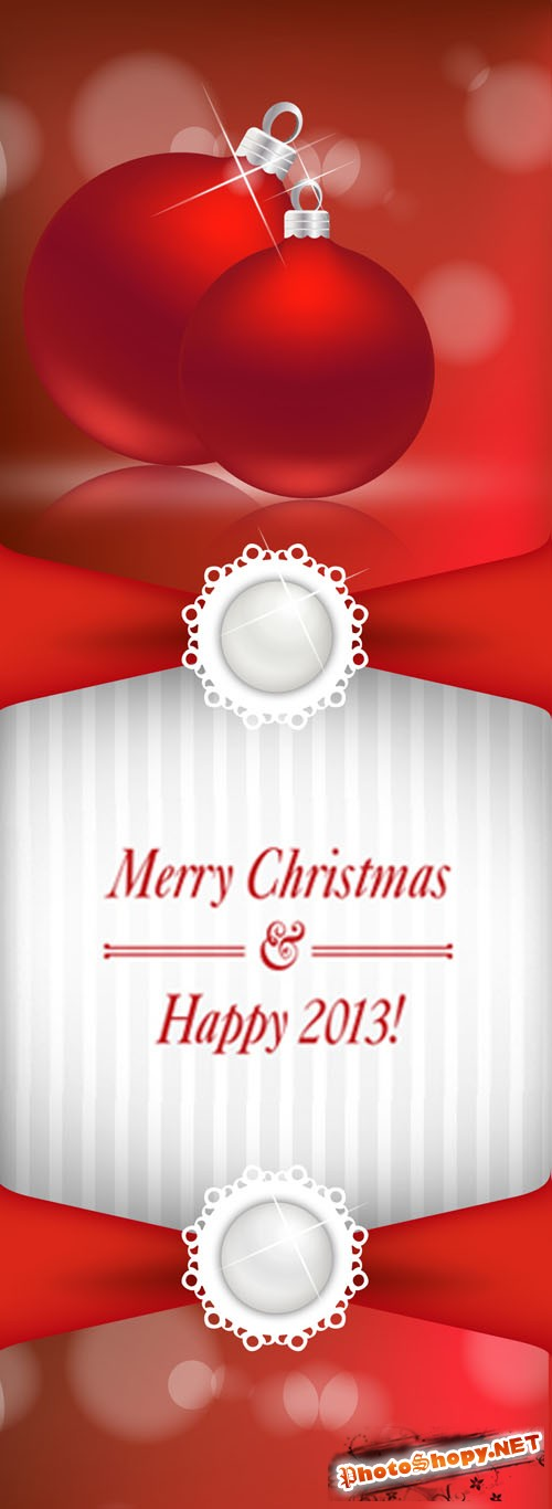 Christmas Greeting Banner 2012 PSD Template