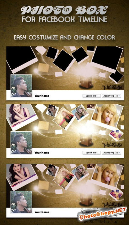 PhotoBox Faacebook Timeline PSD Template