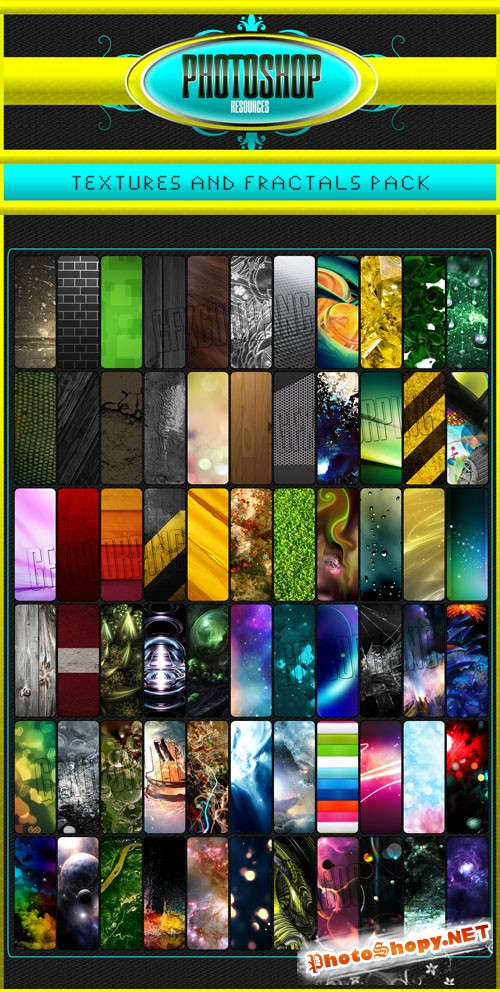 Fractals, Abstracts, Stocks and Textures Collection
