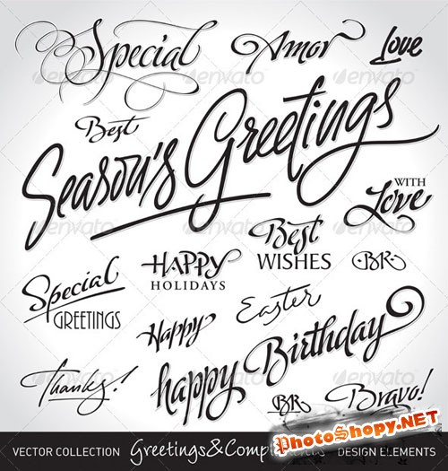 GraphicRiver - Seasonal & Holiday Greetings Set 286801
