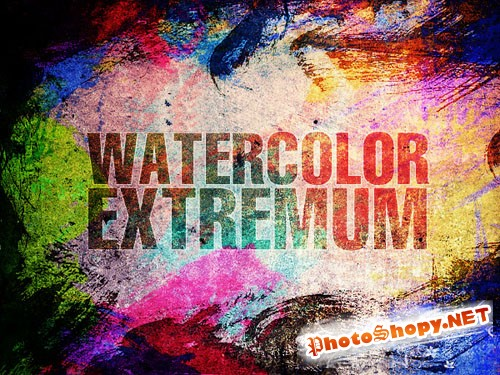 Watercolor Extremum Photoshop Brushes