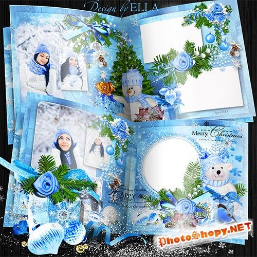 Новогодняя фотокнига-Голубая Рождественская сказка