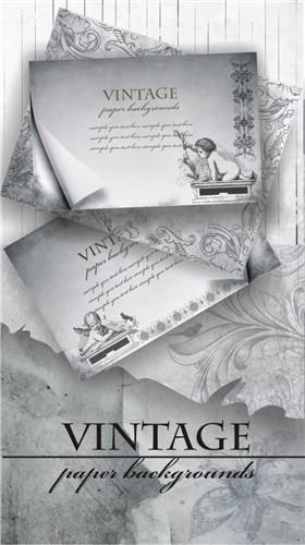 Коллекция чистых винтажных романтических открыток (HQ фоны и текстуры)