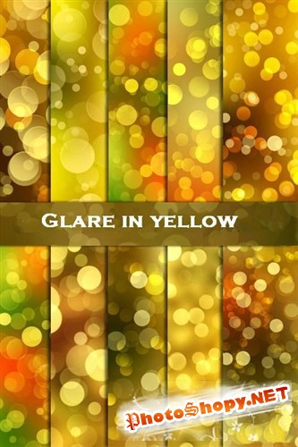 Блики в желтых тонах (HQ фоны)