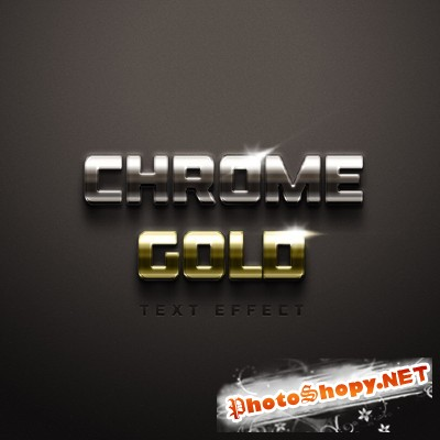 Chrome and Gold Text Effect