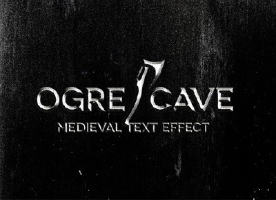 Ogre Cave Medieval Text Effect