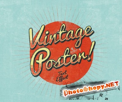 Vintage Poster Text Effect