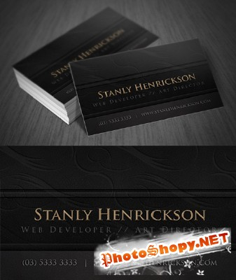 Leather Business Card