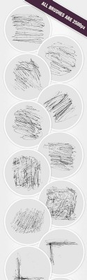 Ink Scratches Photoshop Brushes