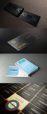 4 Business Cards Mock-up Templates Set 1