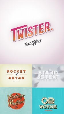 5 Text Effects PSD