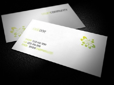Beauty Card Template with Green Logo