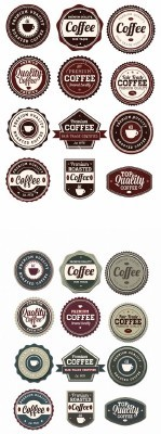 Coffee Badges Set 1