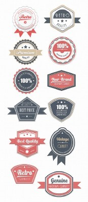 Retro Badges Set 5