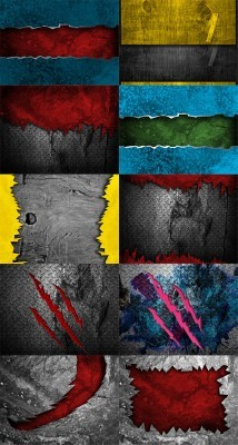 10 Urban Abstract Metal Backgrounds Set 4