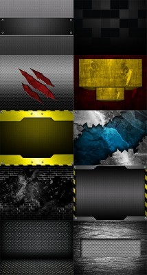 10 Urban Abstract Metal Backgrounds Set 3