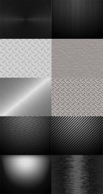 Grunge Metal Backgrounds Set 2
