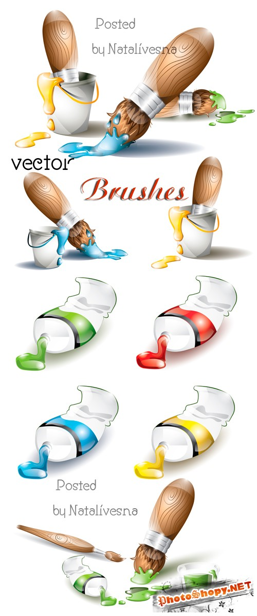 ����� � �������� � ������� / Brushes in Vector