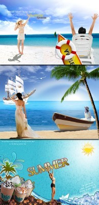 3 PSD Templates - Summer Vacation