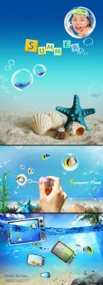 3 PSD Templates - Under the Sea