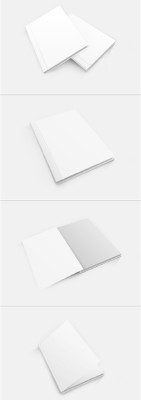 4 Book Mock-Up PSD