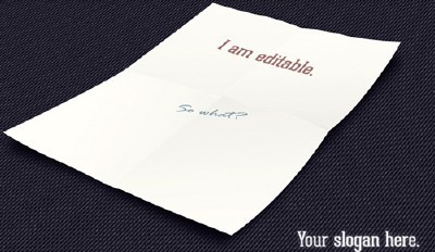 A4 Paper Mock-Up PSD