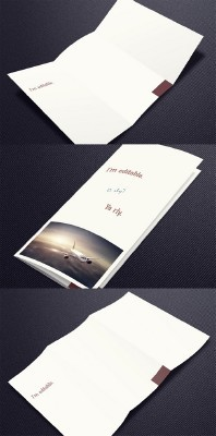 Trifold Brochure Mock-Up PSD