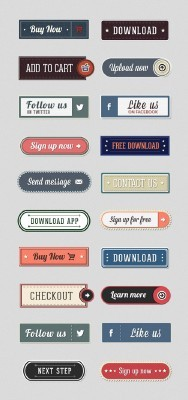 Retro Web Buttons Set