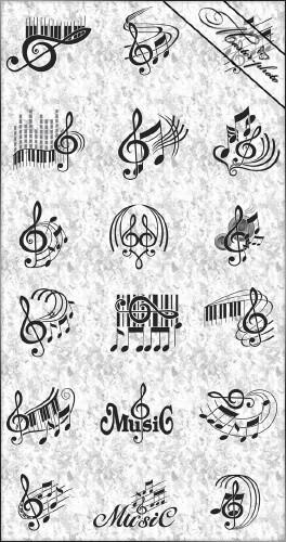Многослойный исходник PSD - Музыкалиный